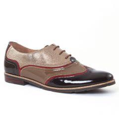 richelieus marron doré: même style de chaussures en ligne pour femmes que les Mamzelle