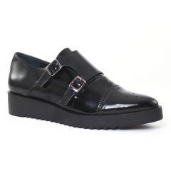 mocassins vernis noir: même style de chaussures en ligne pour femmes que les Marco Tozzi