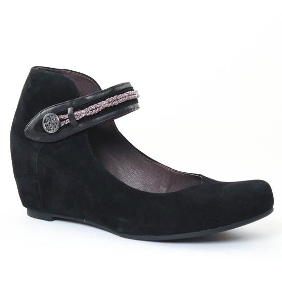 Ballerines Mamzelle Sevila Velours Noir, vue principale de la chaussure femme