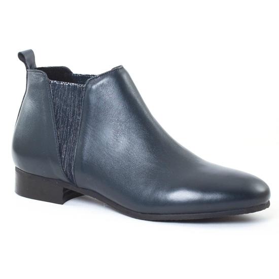 Bottines Et Boots Scarlatine 77522F Nuit Argent, vue principale de la chaussure femme