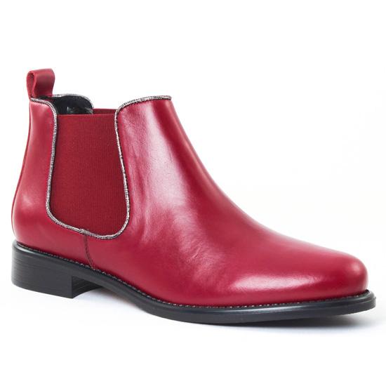 Bottines Et Boots Scarlatine 77097Q Bordeaux Argent, vue principale de la chaussure femme