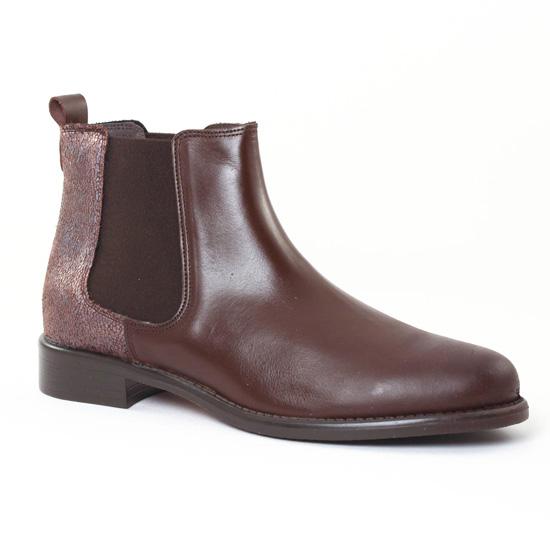 Bottines Et Boots Scarlatine 77545A Marron, vue principale de la chaussure femme