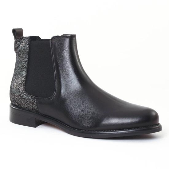 Bottines Et Boots Scarlatine 77545A Noir Antracite, vue principale de la chaussure femme