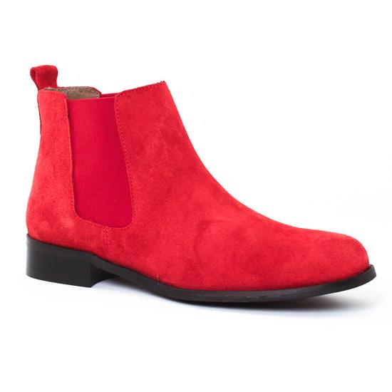 Bottines Et Boots Scarlatine 2662A Rouge, vue principale de la chaussure femme