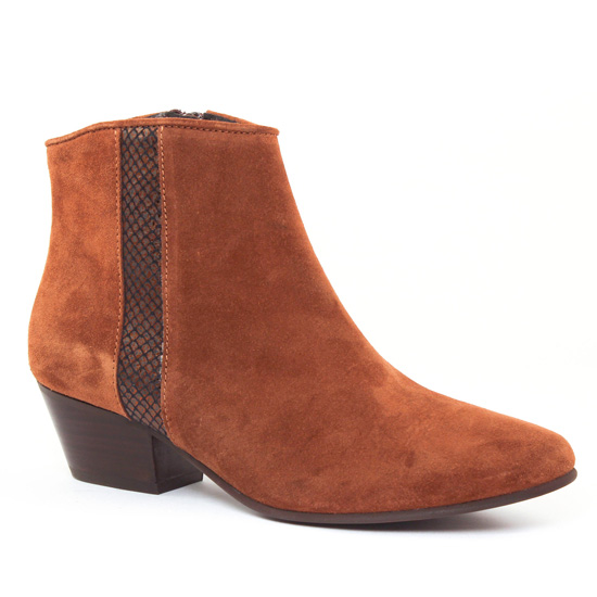 Bottines Et Boots Impact 740 Tabacco, vue principale de la chaussure femme