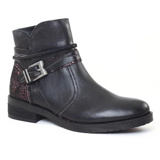 Bottines Et Boots Fugitive Iveo Noir Olo, vue principale de la chaussure femme