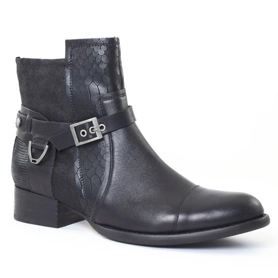 Bottines Et Boots Mamzelle Jerome Compo Noir, vue principale de la chaussure femme