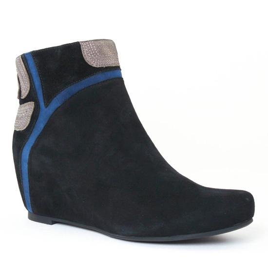 Bottines Et Boots Mamzelle Saco Noir Bleu, vue principale de la chaussure femme