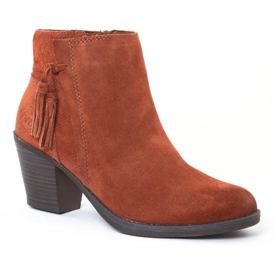 Bottines Et Boots Marco Tozzi 25376 Cognac Antic, vue principale de la chaussure femme