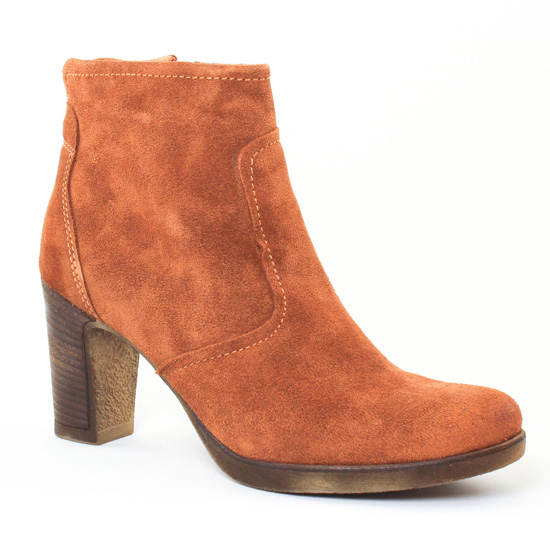 Tamaris 25386 Cognac | boot talon marron automne hiver chez