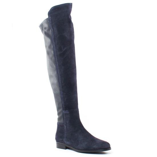 Bottes Pintodiblu PintoDiBlu 79180 Bleu, vue principale de la chaussure femme
