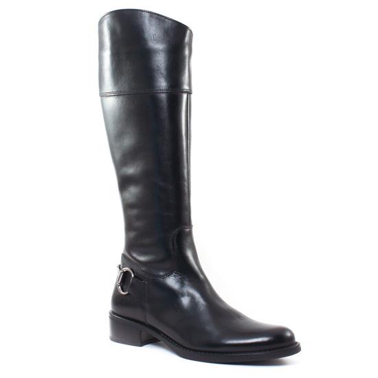 Bottes Scarlatine Msv3167 Vitello Nero, vue principale de la chaussure femme