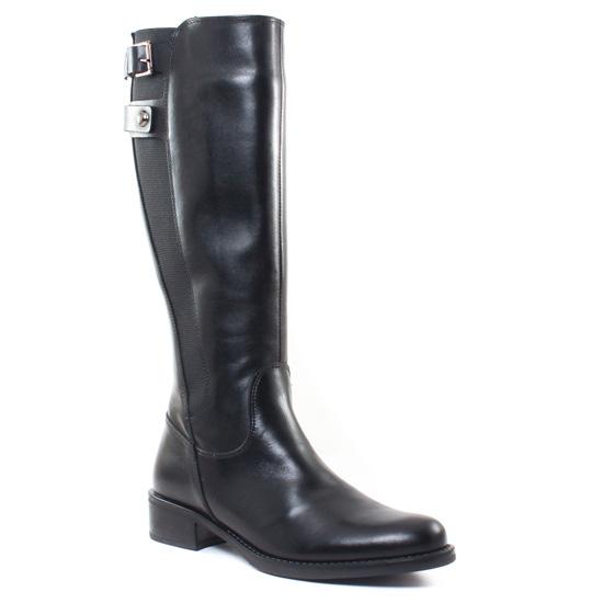 Bottes Scarlatine Msv5186 Vitello Nero, vue principale de la chaussure femme