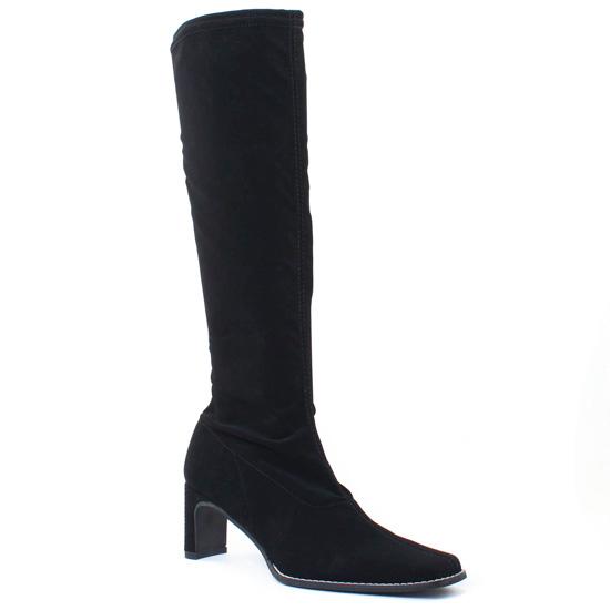 Bottes Fugitive Fanfan Stretch Nubuck Noir, vue principale de la chaussure femme