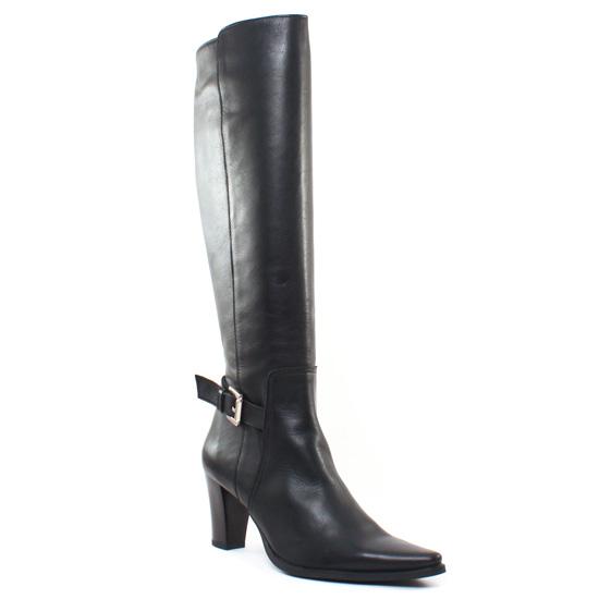 Bottes Scarlatine Sergie Crust Noir, vue principale de la chaussure femme