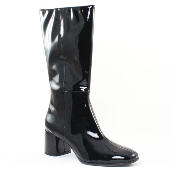 Bottes Tamaris 25056 Black Patent, vue principale de la chaussure femme