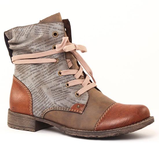 Bottines Et Boots Rieker 70822-24 Brandy, vue principale de la chaussure  femme 8837d6e2ecf1
