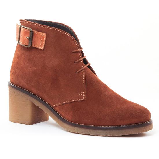 Bottines Et Boots Scarlatine 7255 Camel, vue principale de la chaussure femme