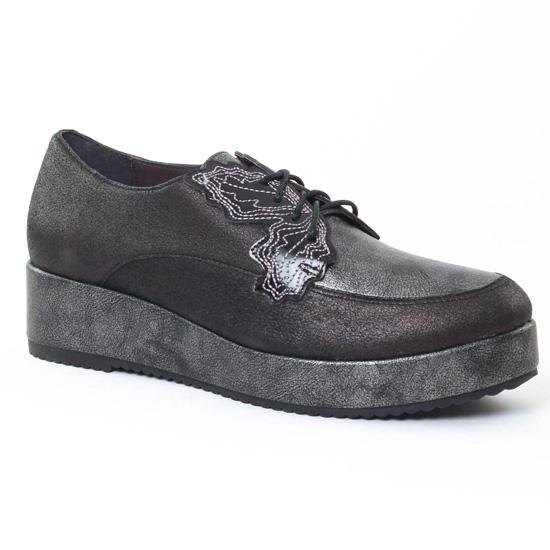 Chaussures À Lacets Mamzelle Revati Seta Noir, vue principale de la chaussure femme