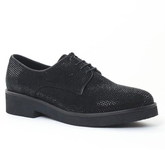 Chaussures À Lacets Bprivate 2305 Noir, vue principale de la chaussure femme