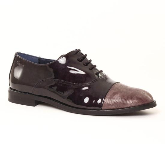 Chaussures À Lacets Dorking raquel 6891 noir, vue principale de la  chaussure femme