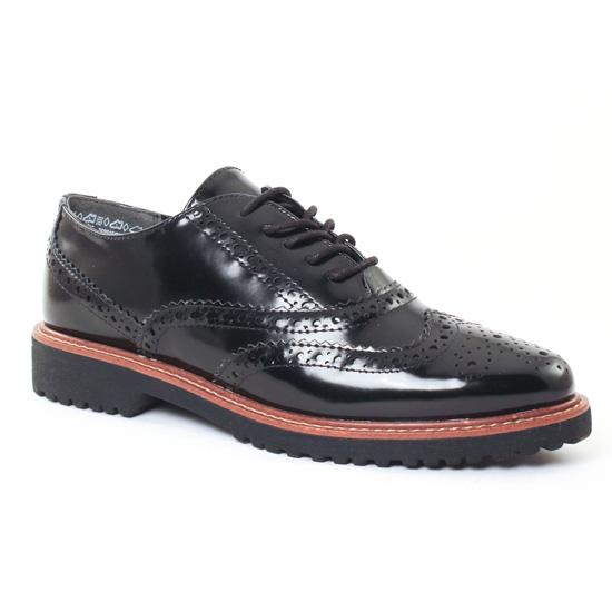 Chaussures À Lacets Marco Tozzi 23720 Black, vue principale de la chaussure femme