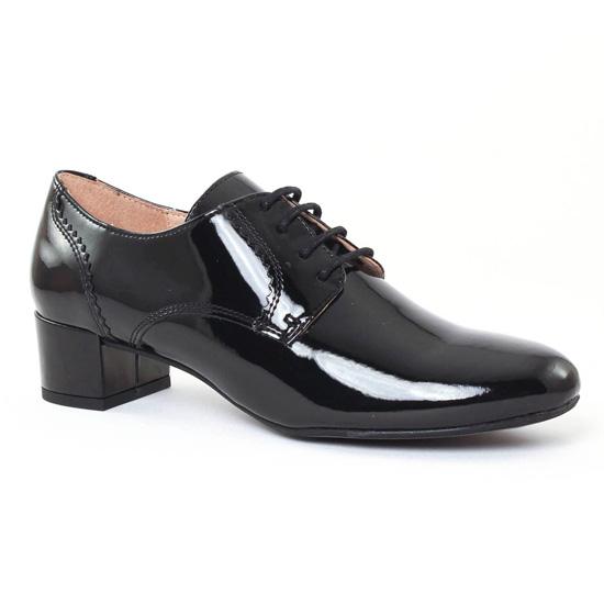 Chaussures À Lacets Scarlatine 2811A Vernis Noir, vue principale de la chaussure femme