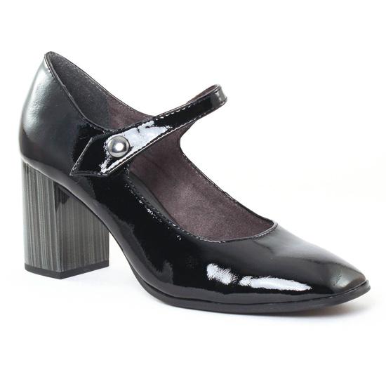Escarpins Tamaris 22463 Black Patent, vue principale de la chaussure femme