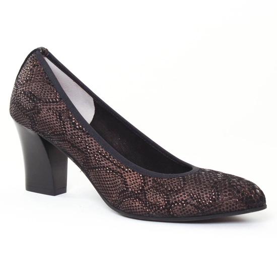 Escarpins Perlato 9575 Bandy Bronze, vue principale de la chaussure femme