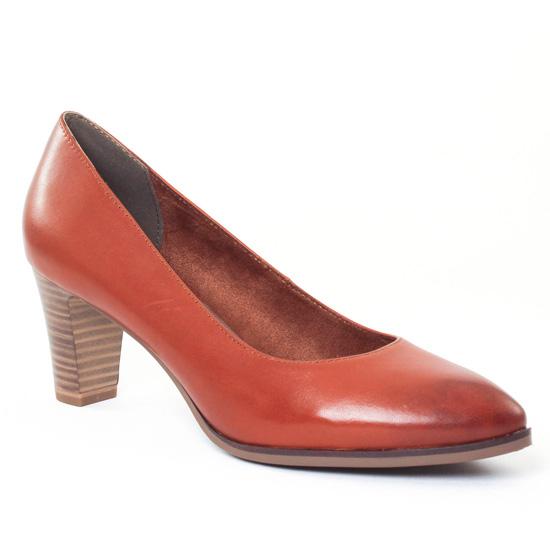 Escarpins Tamaris 22422 Cognac, vue principale de la chaussure femme