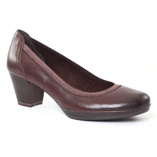 Escarpins Marco Tozzi 22418 marron, vue principale de la chaussure femme