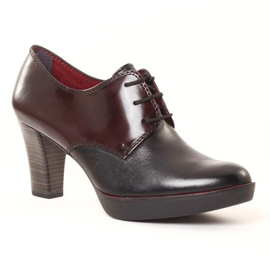 Chaussures À Lacets Tamaris 23300 Black Bordeaux, vue principale de la chaussure femme