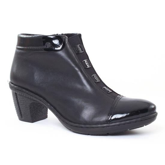 Bottines Et Boots Rieker 50292 Schwarz, vue principale de la chaussure femme
