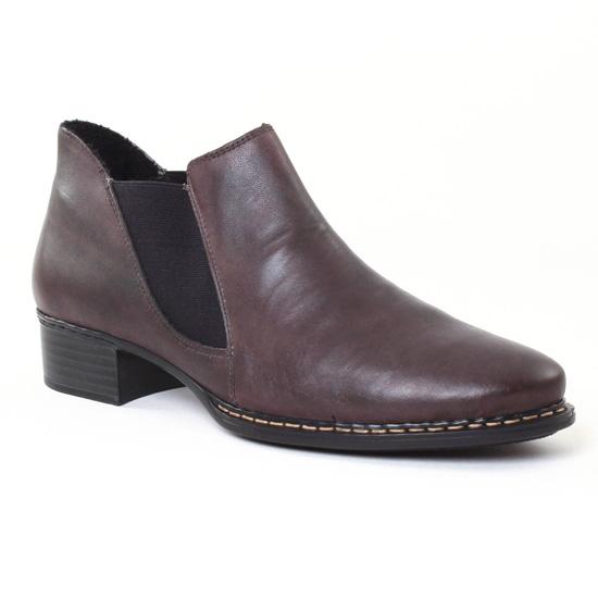 Bottines Et Boots Rieker 53683-45 Smoke, vue principale de la chaussure femme