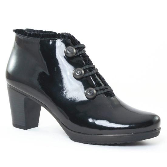 low boots vernis noir