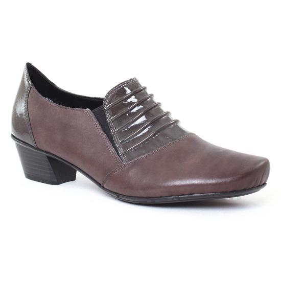 Mocassins Rieker 53862 gris, vue principale de la chaussure femme