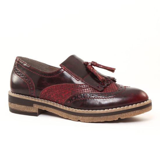 Mocassins Tamaris 24608 Bordeaux, vue principale de la chaussure femme