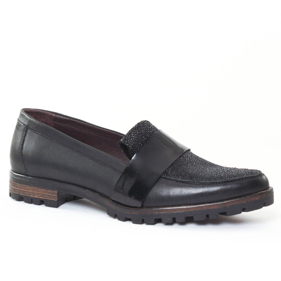 Mocassins Axell Kolia Noir, vue principale de la chaussure femme