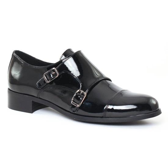 Mocassins Scarlatine 6501S Vernis Noir, vue principale de la chaussure femme