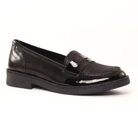 Mocassins Scarlatine 6942 Vernis Noir, vue principale de la chaussure femme