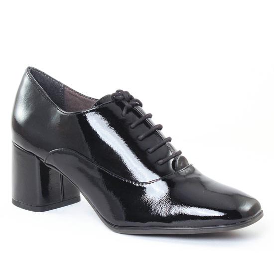 Chaussures À Lacets Tamaris 23325 Black Patent, vue principale de la chaussure femme