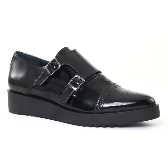 Mocassins Scarlatine Paris Polido Noir, vue principale de la chaussure femme