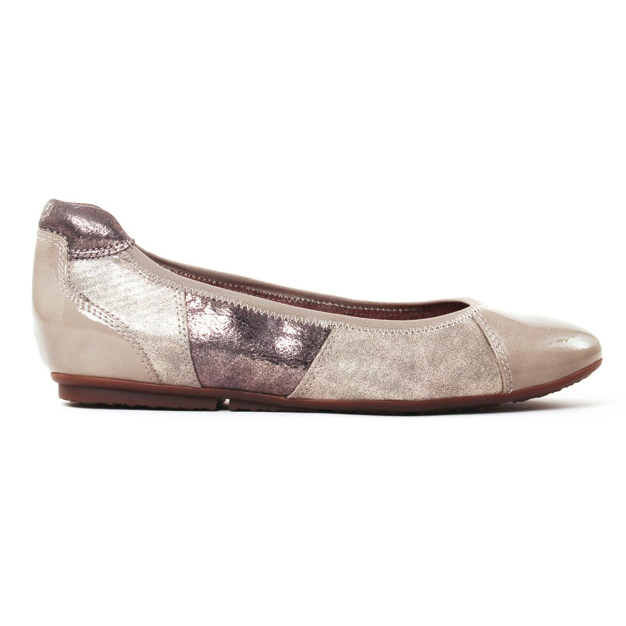 Tamaris Femmes Ballerine Textile Beige Chaussures Pour Femme