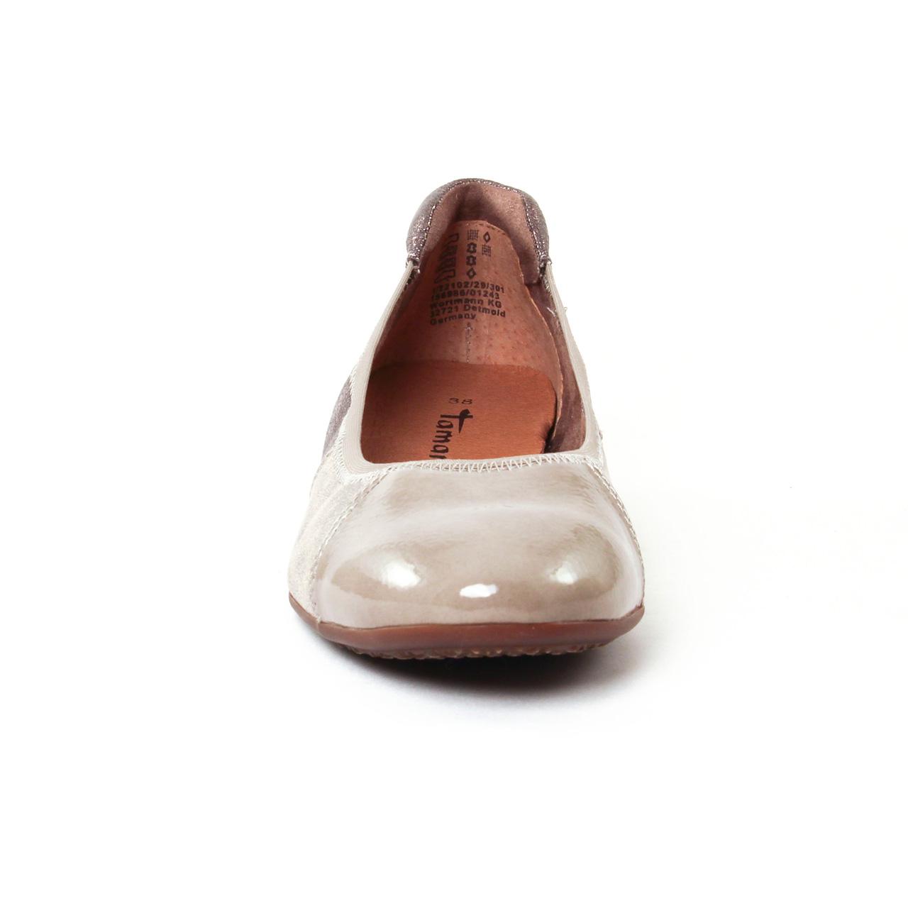 Tamaris 22102 Pepper   ballerine confort beige taupe automne