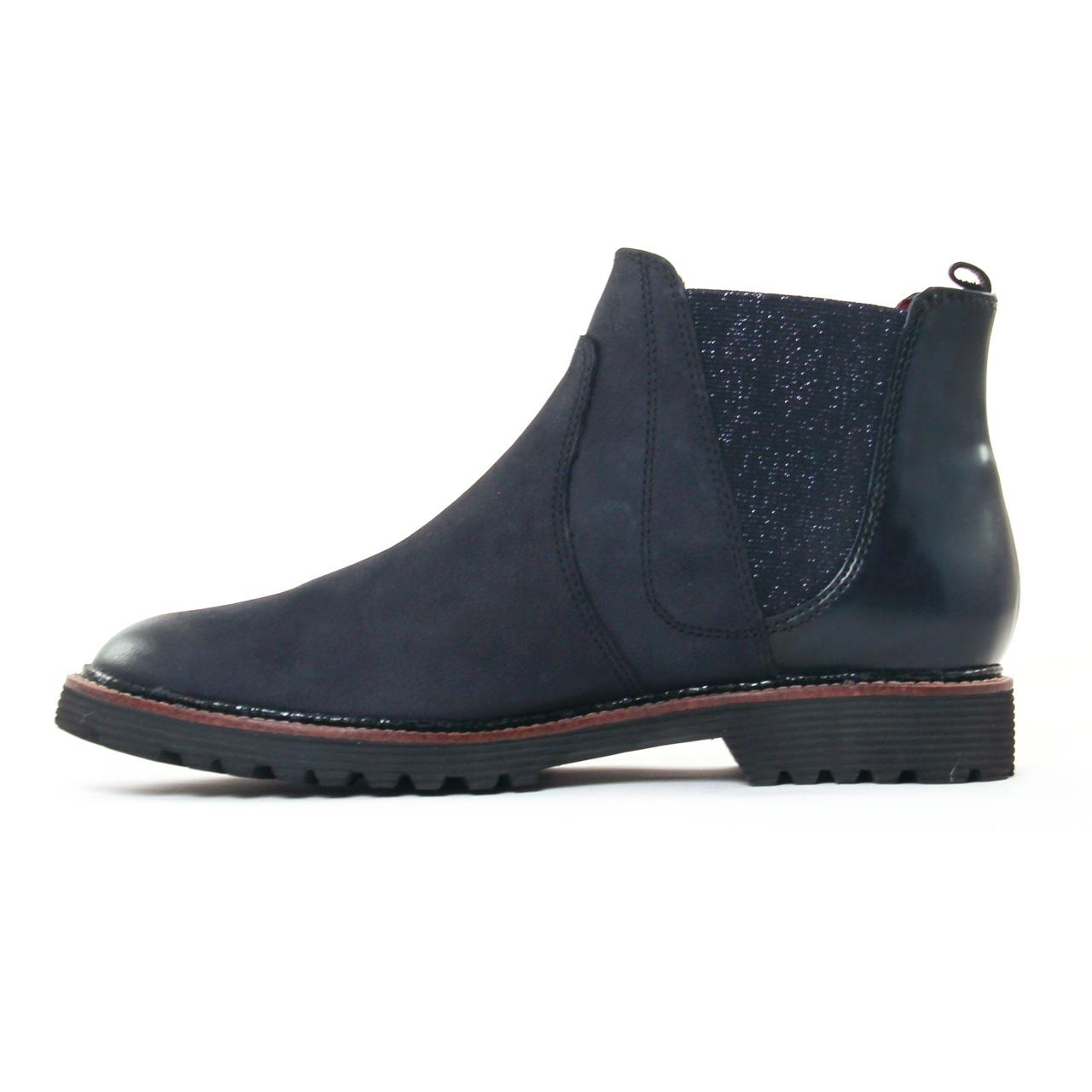 Tamaris 25438 Navy   boots bleu marine automne hiver chez