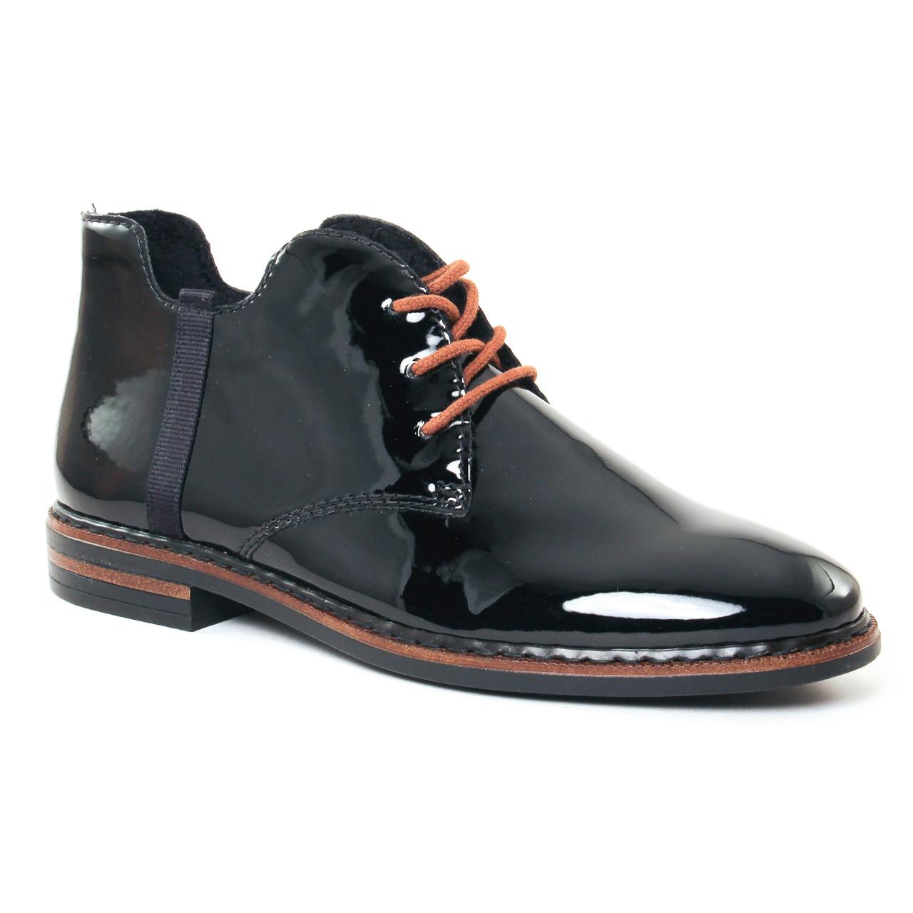 Chaussure À Lacets Noir Rieker Rieker fgC1O