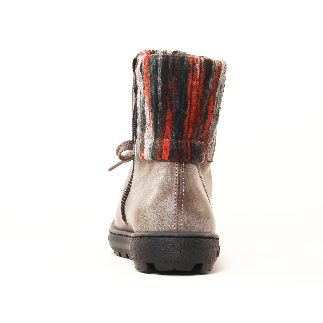 rieker z8753 gris | boot fourrées gris automne hiver 2017 chez