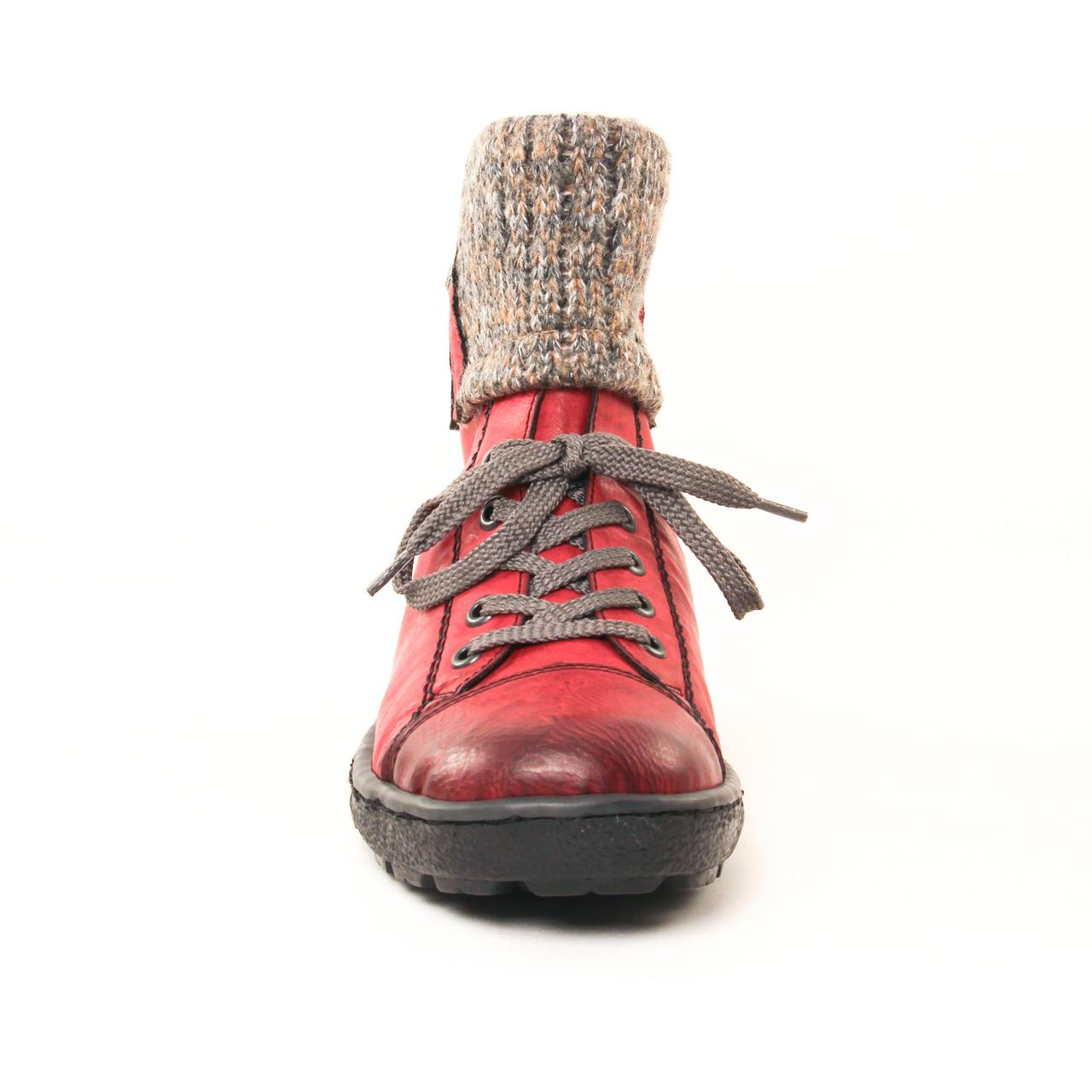 Rieker Z8753 Rouge   boot fourrées rouge automne hiver chez