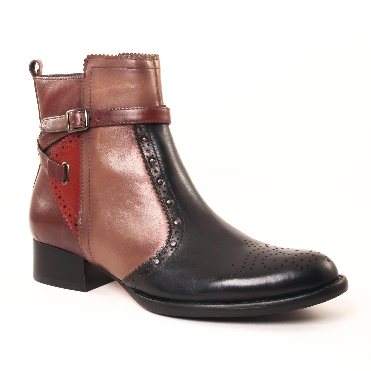 mamzelle josya box noir | boot jodhpur noir marron automne hiver