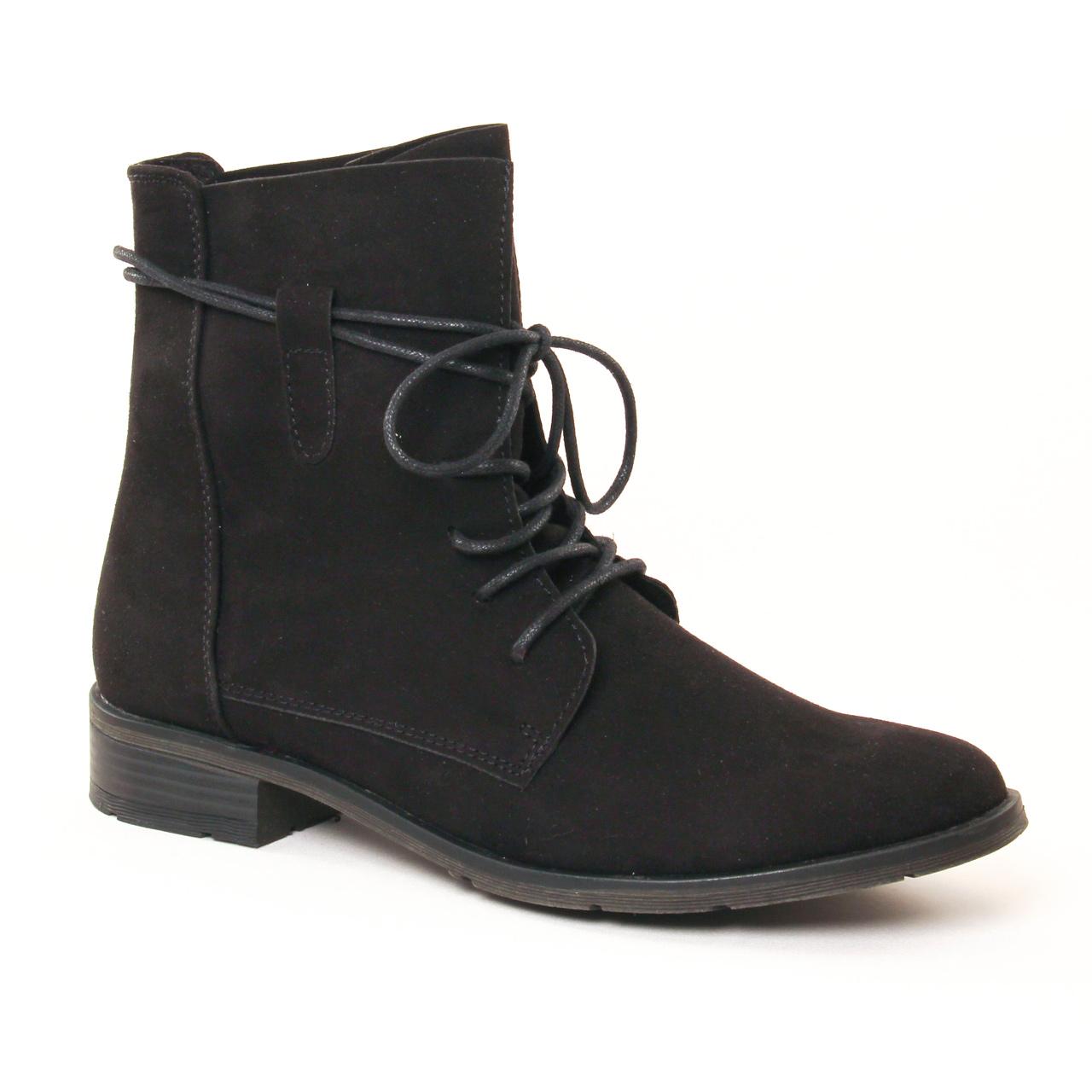 marco tozzi 25112 black | bottine à lacets noir automne hiver 2017